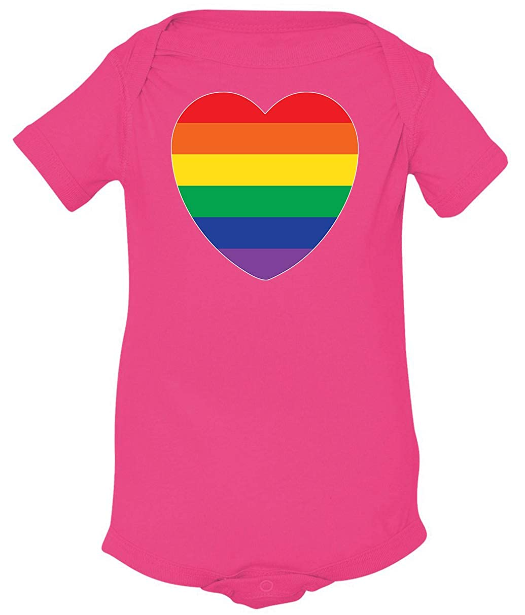 Tenacitee Babys Pride Rainbow Heart Flag Shirt