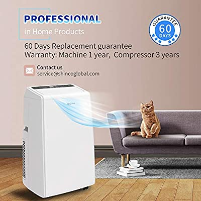 Shinco SPS5 Portable Air Conditioner Cool Fan Quiet Dehumidifier for Rooms Up to 200-500 Sq.Ft