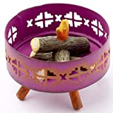 Brightly Painted Metal Miniature Campfire Ring for Fairy Gardens, Crafting and Creating
