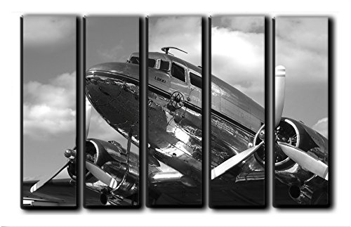 vas Wall Art Aircraft Canvas Wall Art Vintage Plane Wall Art Engine Propeller Wall Canvas Art Wall Home Decoration On Canvas Aviation Wall Art Print Poster Picture 55x35 ()