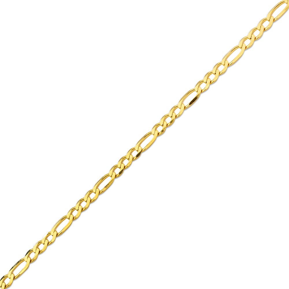 10K Yellow Gold 5.5mm Solid Figaro Chain Necklace (24 inches) by LOVEBLING (Image #3)