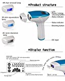 HKGT 1ST Mlay M3 Home IPL Hair Removal System With 3Pcs 120000 Flashes Head [HR,AC,SR] For Hair Removal/Anti-Acne/Photorejuvenation (Blue)