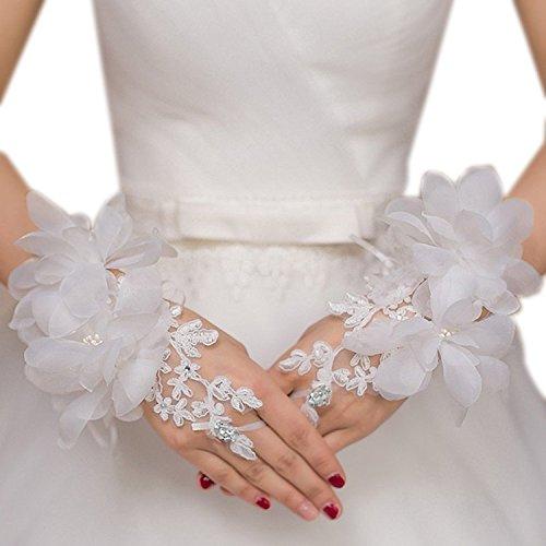 ワードローブ仕事に行く悪夢ImageStyle(イメージスタイル) ウエディンググローブ 花嫁 ブライダル 手袋 花 小物 パーティ レース 舞台 仮装にも