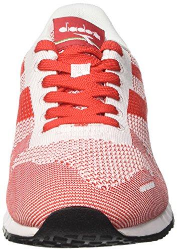 Diadora Herren Titan Weave Sneaker Elfenbein (Bianco/bianco/rosso)