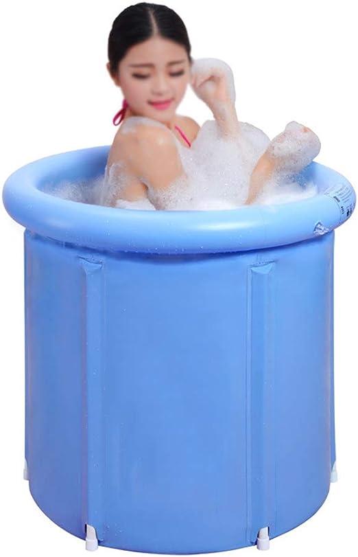 ZQ Bañera SPA Plegable para Adultos, bañera Hinchable portátil ...