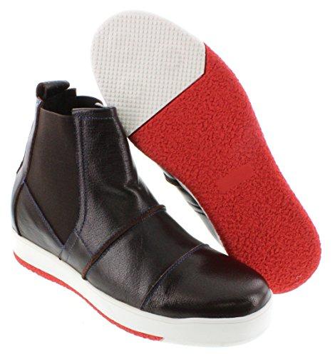 calto–g718057,6cm größer die Höhe Steigerung Aufzug Schuhe (braun Sneakers-Sneakers)
