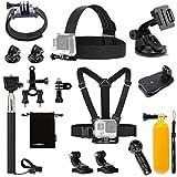 Luxebell Accessories Kit for AKASO EK5000 EK7000 V50 Pro GoPro Hero 7 6 5 4 3