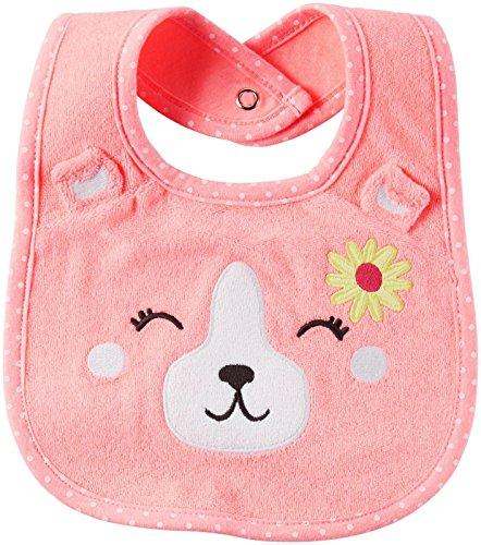 Carters Pink Bib - Carter's Baby Girls' Teether Bibs 126g613, Pink, One Size