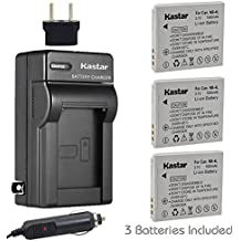 Kastar Battery (3-Pack) and Charger Kit for Canon NB-4L, CB-2LV and Canon PowerShot SD1000 SD1100IS SD1400IS SD200 SD30 SD300 SD400 SD430 SD600
