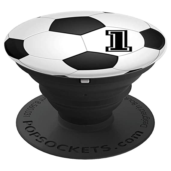 Amazon Com Soccer Player 1 Jersey No 1 Football Ball Pop Socket
