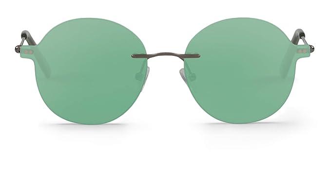 Mr Boho Circular Embassy, Gafas de Sol Unisex, Green, 50 ...
