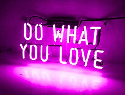 Neon Light Wall Sign Home Decor Led Lamp Decorative Lights Birthday Love Christmas Gift Custom for Bedroom Beer Bar Office Garage Girls Purple Do What You Love