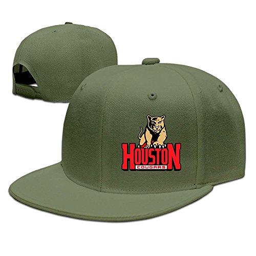 MEIKEY UNISEX University Of Houston Blank Flat Cap (Irons Andy Hat)