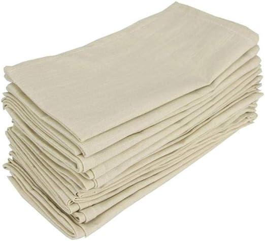 KOIYOI Servilletas de Tela de algodón Juego de 12 servilletas de ...