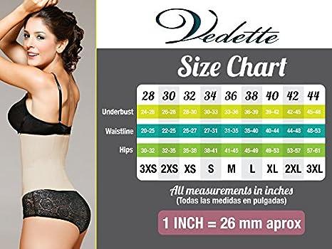 3021627ea5f99d Vedette Shapewear 934 MADELINE Long Leg Control Shapewear w/Front Closure  Black at Amazon Women's Clothing store: