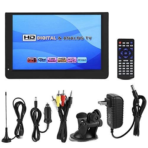 fosa 1080P Car Digital TV, LEADSTAR 12in Color Screen Television, Portable Handheld ATV/UHF/VHF Stereo Surrounding Car Television for Bedroom, Kitchen, Caravan, Build in Rechargble Battery by fosa (Image #6)