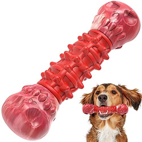 G.C Hundespielzeug unzerstörbar Große Hunde, Kauspielzeug Hund Kauknochen interaktives Robustes Schädel Naturkautschuk…