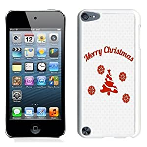 NEW Unique Custom Designed iPod Touch 5 Phone Case With Simple Merry Christmas Message_White Phone Case