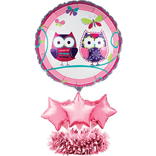 Creative Converting Balloon Centerpiece Kit, Owl Pal (Owl Birthday Party Supplies)