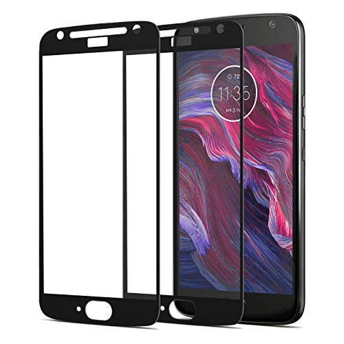 [2-Pack]FilmHoo for Motorola Moto X4 [Full Coverage] Tempered Glass Screen Protector with Lifetime Replacement Warranty(Black)
