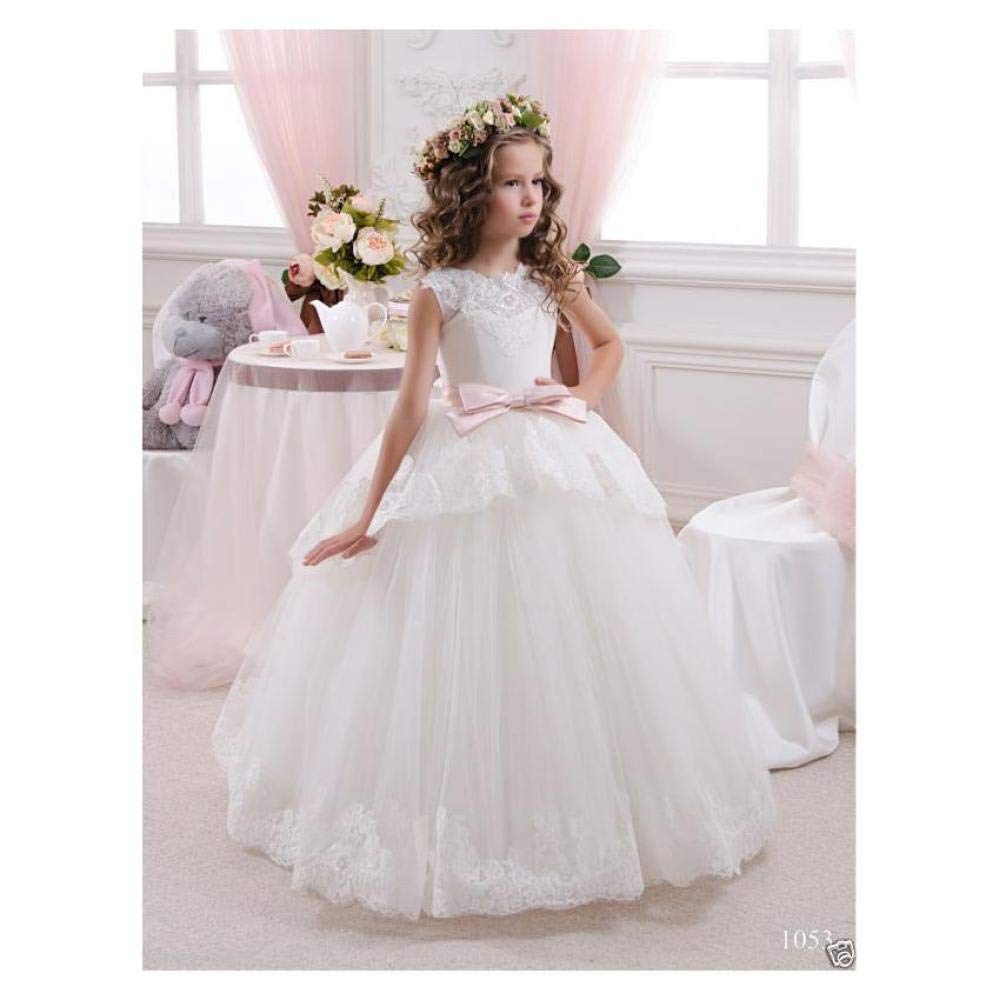 2019 Flower Girl Dress Communion Party Prom Princess Pageant Bridesmaid Wedding