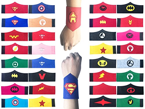 Yibaoo 32 Pack Superhero Bracelet for Kids Boys