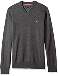 Men's Big and Tall Solid Long Sleeve Sweater