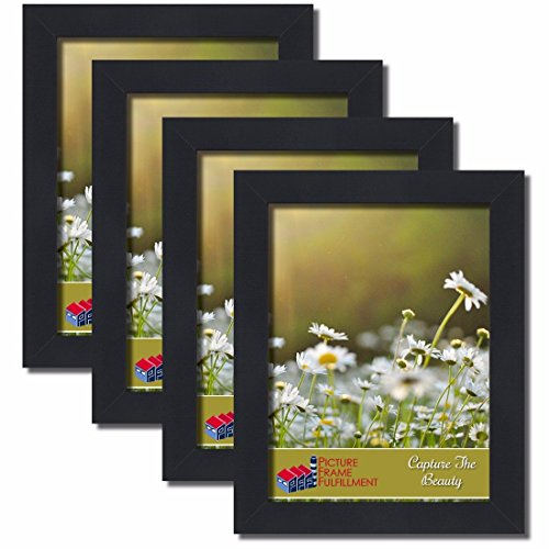 9 by 12-inch Picture Frame 4-piece Set, Smooth Finish, 1.25