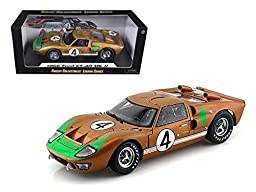 1966 Ford GT-40 MK 2 Gold #4 1/18 Car Model by Shelby Collectibles