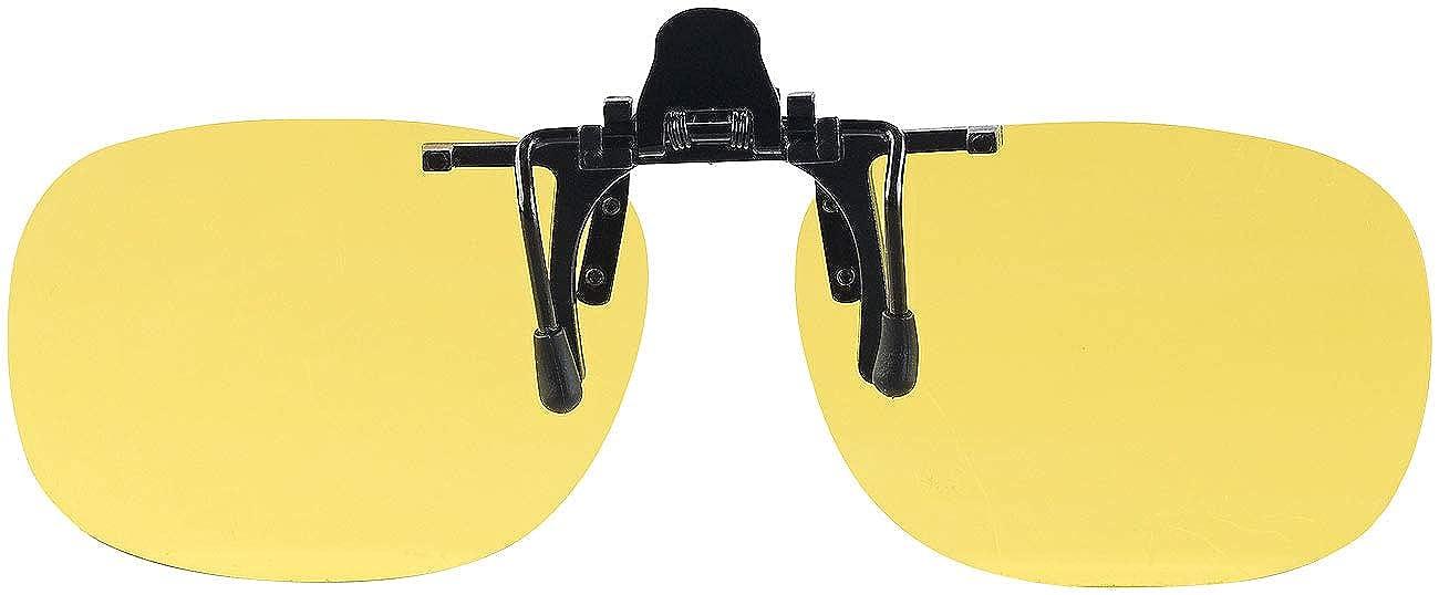 PEARL Nacht-Brillen: 2er-Set Nachtsicht-Brillenclips rundliches Design Nachtfahrbrille-Clip polarisiert UV400