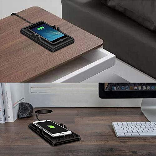 Xflelectronic Caricabatteria Senza Fili Caricabatteria per Auto Caricabatteria per Auto Caricabatteria da Auto Supporto per GPS per iPhone XS Max/XR/X/XS, Samsung S10 / S9 / S8