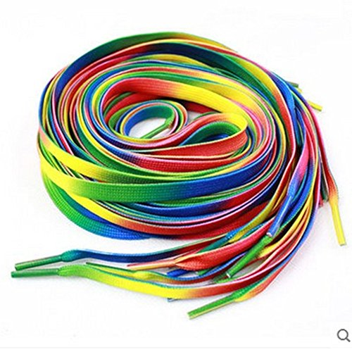 Xerhnan 10 pairs of shoelaces, suitable for children's shoes (Rainbow color)43 0.31 (Fancy Dress Store Near Me)