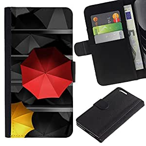 [Neutron-Star] Modelo colorido cuero de la carpeta del tirón del caso cubierta piel Holster Funda protecció Para Apple (5.5 inches!!!) iPhone 6+ Plus / 6S+ Plus [Umbrella Special Love Amor Diferente]