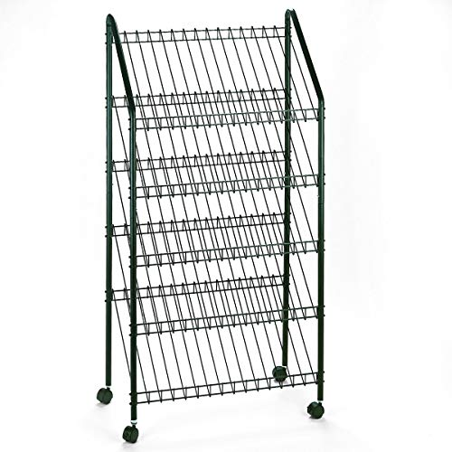 Safco Products 4129CH Mobile Literature Rack, Charcoal -