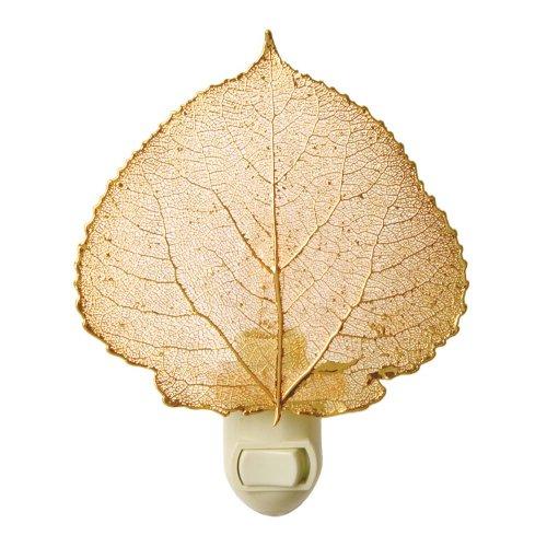 Real Leaf Aspen Night Light, Gold