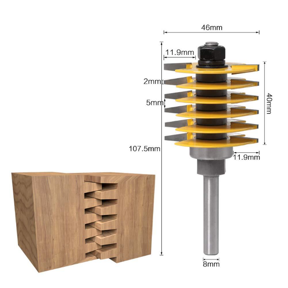 1//2 Zoll Schaft Reversible Finger Joint Leimfuge Fr/äser Holzschneidwerkzeug