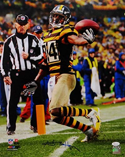 Antonio Brown Autographed Signed Steelers 16x20 One Hand Catch Pf Photo- JSA Authentic ()