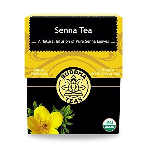 Organic Senna Tea - Kosher, Caffeine Free, GMO-Free - 18 Bleach Free Tea -