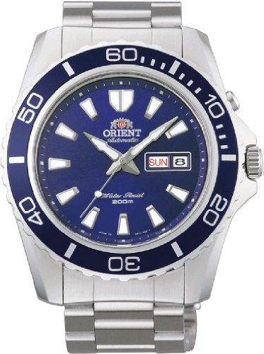 Orient FEM75002D Men's Mako XL Stainless Steel Blue Dial Automatic Dive Watch