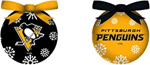 Team Sports America LED Boxed Ornament Set of 6, Pittsburgh Penguins Christmas and Decor for NHL Sports Fans