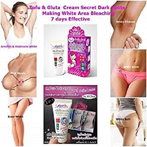 Secret White Skin Bleaching Cream Clear Dark Spot Groin Armpit Nipple Pink Elbow Size 6 gram
