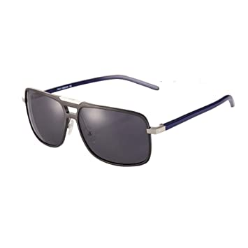HONEY HD Polarisierte Sonnenbrille - Aluminium Magnesium Square Frame - Treiber Brillen ( Farbe : Black box blue leg ) EuJBNevE