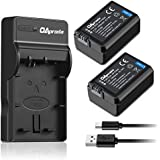 OAproda 2 Pack NP-FW50 Battery and Rapid Micro USB Charger for Sony Alpha a7, a7 II, a7R, a7R II, a7S, a7S II, a5000, a5100, a6000, a6300, a6500, NEX-3, NEX-3N, NEX-5, NEX-5N, NEX-5R NEX-5T, RX10 IV