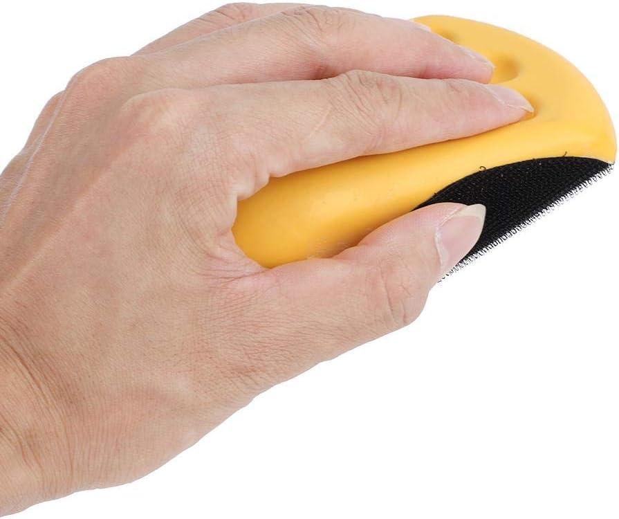 125mm Nimoa Handschleifkissen-Klettverschluss PU-Schaum Weiche und haltbare Handschleifblock-Polierscheibe 5//6
