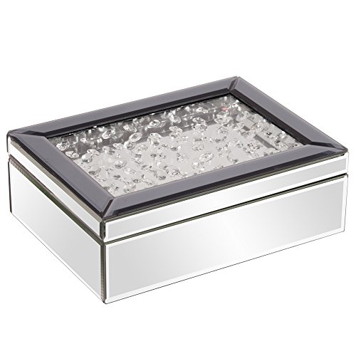 Jeweled Jewelry (Howard Elliott 99053 Mirrored Jewelry Box with Jeweled)