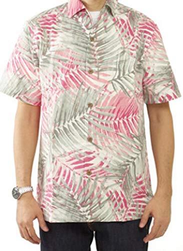 Tommy Bahama Island Zones San Juan Fronds Silk Blend Camp Shirt (Color: Shellrosa, Size 3XL)