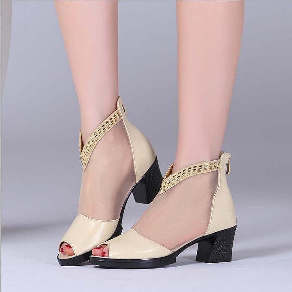 Damenschuhe Frühling und Sommer neue Stiefel Leder Frauen Net Stiefel neue mit Strass Mesh Schuhe Beige 0f15fd