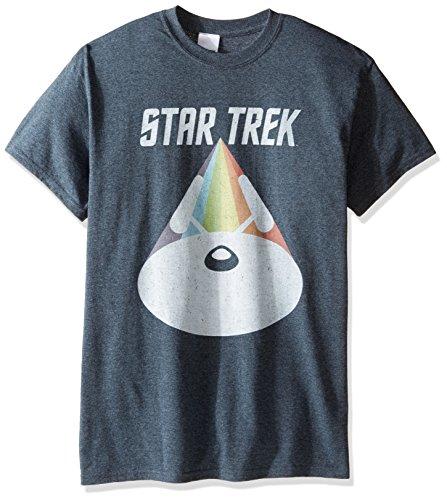 Star Trek Men's Big and Tall Vintage Rainbow Spacecraft T-Shirt, Dark Heather, 4XL