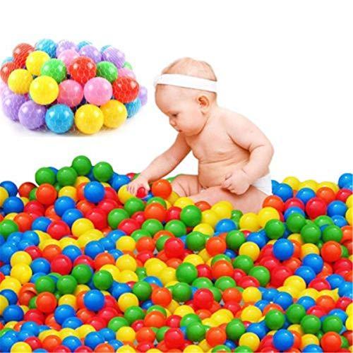 100pcs Colorful Ocean Balls,Soft Plastic Pit Balls,Tent Swim Toys Playground Games Pool (100 Piece) (Games 100 Playground)