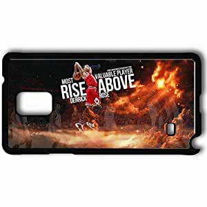 Personalized Samsung Note 4 Cell phone Case/Cover Skin 14786 derrick rose mvp by angelmaker666 d3dhfb7 Black by mcsharks
